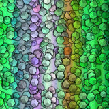 I cubi casuali strutturano il fondo astratto variopinto con il perno verde Immagini Stock Libere da Diritti