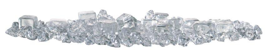 i cubi ghiacciano la vista laterale Immagine Stock