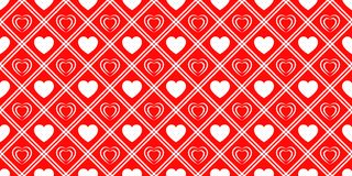 I cuori di amore hanno ripetuto la struttura Fondo di vettore di giorno di biglietti di S. Valentino del san Modello senza cucitu illustrazione vettoriale