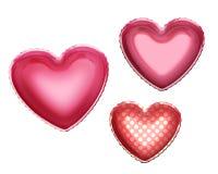I cuori di stagnola balloons per il giorno di amore del biglietto di S. Valentino Immagine Stock