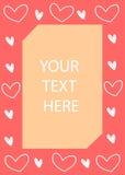 I cuori incorniciano, carta del giorno del ` s del biglietto di S. Valentino Illustrazione di vettore Fotografia Stock Libera da Diritti