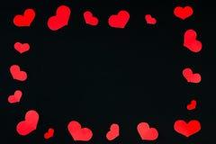 I cuori incorniciano fatto di piccoli cuori rossi Immagini Stock Libere da Diritti