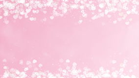 I cuori incorniciano su Rose Background Scheda astratta di giorno dei biglietti di S stock footage