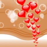 I cuori su fondo significa l'amore romanzesco e illustrazione di stock