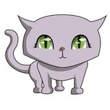 I am so cute meow. Is a  image, illustrating a very funny purple cat Stock Photos