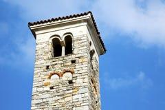 I dag för gammal abstrakt klocka för torn för varanoborghi solig Arkivbilder