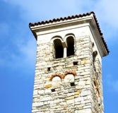 I dag för gammal abstrakt klocka för torn för varanoborghi solig Arkivbild