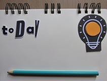 I dag mål som noteras med pennan arkivfoton