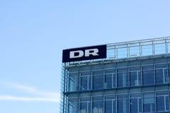"""I danmarks del †del Dott """"radiotrasmettono il logotype del Dott su un pannello Radio di Danmarks Immagini Stock Libere da Diritti"""