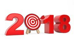 I dardi mirano a come segno da 2018 anni rappresentazione 3d illustrazione vettoriale