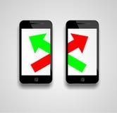 I dati del telefono cellulare attraversano Immagini Stock