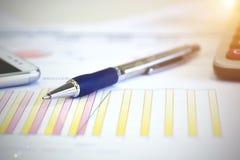 I dati di conto e calcolano Fotografia Stock