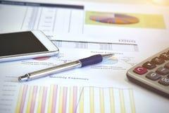 I dati di conto e calcolano Immagini Stock