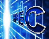 I dati di spec. significano la specificazione ed i fatti di fatto royalty illustrazione gratis