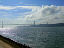 I 25 de Abril Bridge Fotografia Stock