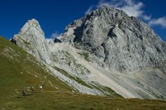 I de Slovenien alpsna Royaltyfria Bilder