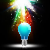 I dea concept with light bulbs  on  abstract background Royalty Free Stock Photos