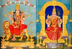 I dei indù tradizionali hanno dipinto le immagini immagini stock libere da diritti