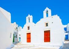 I den Amorgos ön i Grekland Fotografering för Bildbyråer