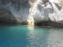 I den blåa grottan malta royaltyfria bilder