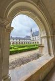 I den Fontevraud abbotskloster Royaltyfri Fotografi