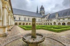 I den Fontevraud abbotskloster Royaltyfria Bilder