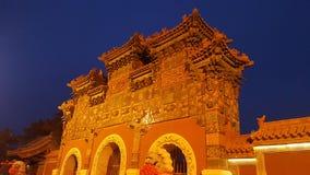 I den forntida storartade porten royaltyfria foton