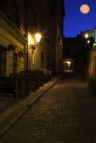I den gamla Prague under slottmoment Royaltyfri Foto