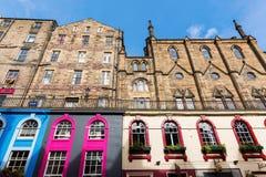 I den gamla staden av Edinburg Skottland Royaltyfri Foto