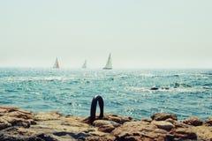 I den Odessa stranden Arkivbild
