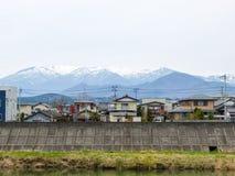By i den Sendai staden, Japan arkivbild