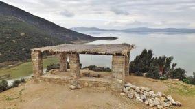 I den sjöIchkeul nationalparken nordliga Tunisien Royaltyfria Bilder
