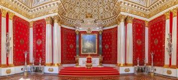 I den statliga eremitboningen slottfyrkant Royaltyfria Foton