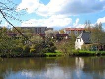 I den Zschopau dalen i Erzgebirge Tyskland royaltyfria foton