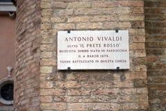 I denna kyrka var döpte Antonio Vivaldi, Venedig Royaltyfri Foto