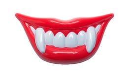 I denti del vampiro sorridono immagine stock libera da diritti