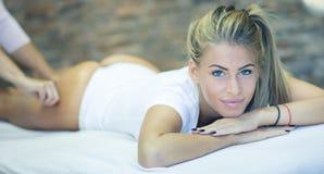 I deserve the best massage royalty free stock image