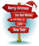 I desideri di Buon Natale su rosso firma le frecce royalty illustrazione gratis