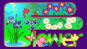 Japanese flower pattern wallpaper vector illustration