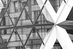 i det finansiella distric för nybyggelondon skyskrapa Royaltyfri Bild