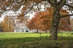 I det gammalt parkera hösten Royaltyfri Bild