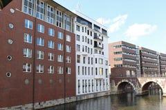 I det Hamburg centret Tyskland, Europa Arkivbilder