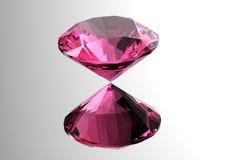 i diamanti 3D rendono Pietra preziosa dei gioielli Fotografia Stock