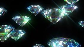 I diamanti luminosi hanno avvolto l'animazione Fondo di lusso HD 1080 illustrazione di stock