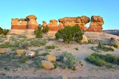 I diavoli fanno il giardinaggio, grande scala escalante, Utah, Stati Uniti fotografia stock libera da diritti