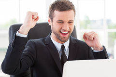 I did it! Royalty Free Stock Images
