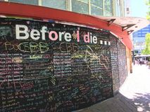 Before I die... stock images