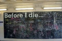 Before I die interactive wall in Singapore stock images