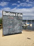 Before I Die Sign Stock Images