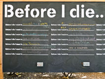 Before I die Stock Photography